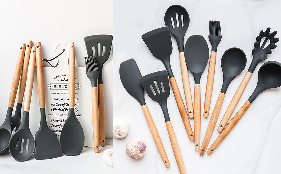 silicone utensils cooking set