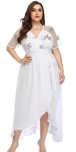 Knee Length Wedding Dress Plus Size