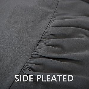 pleated