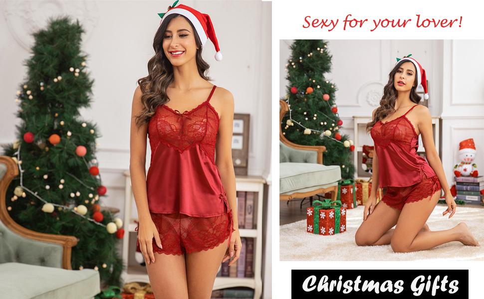 christmas lingerie set