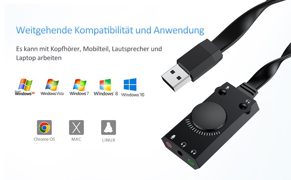 Computer & Zubehr Externe Soundkarten sumicorp.com schwarz ...