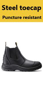 steel toe work boots for men