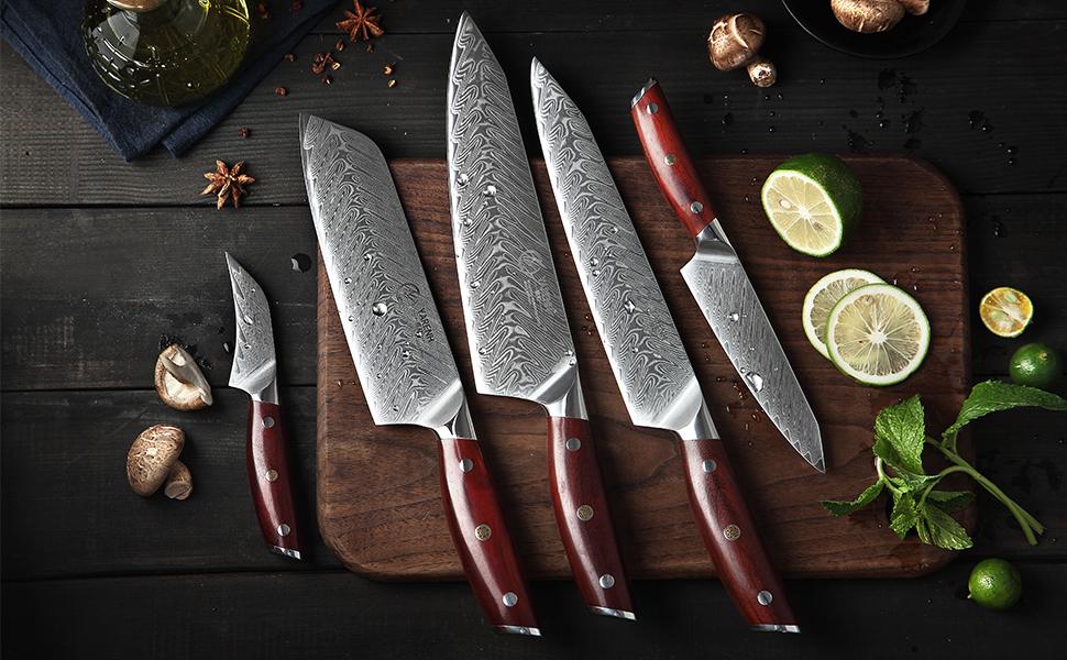 Compra YARENH Juego de Cuchillos de Cocina 5 Piezas - Set ...