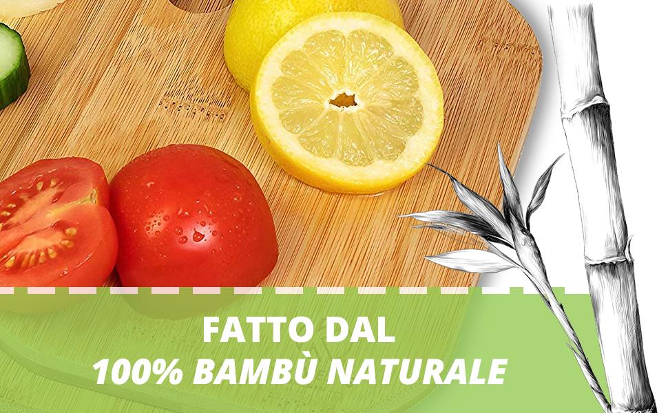 Fatto dal 100% bambù naturale