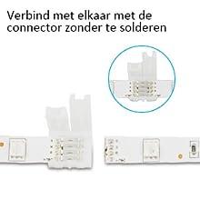 Verbind met elkaar met de connector zonder te solderen