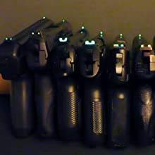 firearms with glow in the dark sights