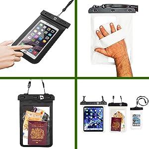 Wasserdichtes Tablet und Handy Gehäuse