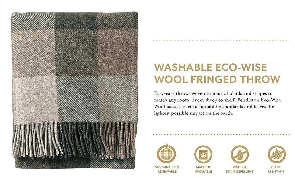 Eco-Wise Washable Wool Blanket Pendleton Dusk Twin