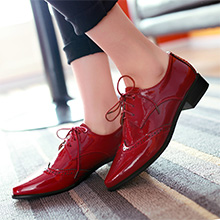 red dress single shoes wedding brogues
