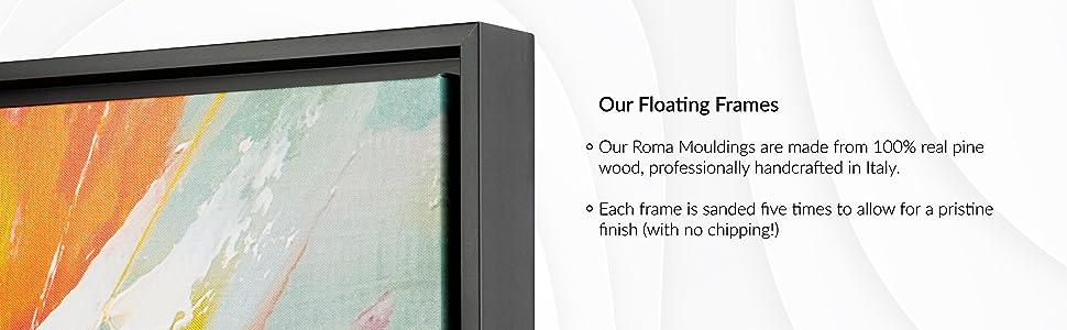nichecanvas, floating frame