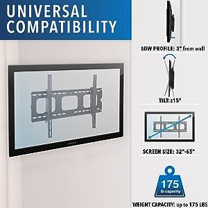low profile tv mount