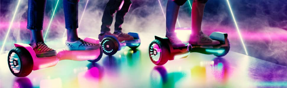 """SWAGBOARD T580 WARRIOR BLUETOOTH HOVERBOARD W/ GROUND FX amp; """"INFINITY"""" WHEEL LIGHTS"""