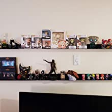 Details about  /Floating Wall Shelves Set of 2,Damage-Free Expand Wall Space,Small Display Shelf