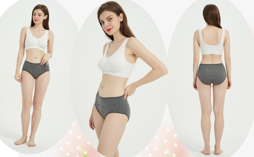Details about  /Boboking Womens Cotton Period Underwear Womens Leak Proof Hipster Menstrual Pant
