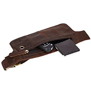 Ultra-thin Sports Full Leather Waist Packs Fanny Pack