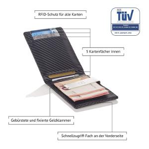 RFID-Shutz 5 Kartenfächer Innen