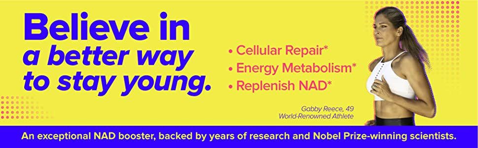 Nobel Prize-winning NAD Booster cellular repair energy metabolism replenish NAD stay young