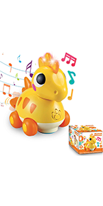 Musical Dinosaur Toy with Sounds and Lights