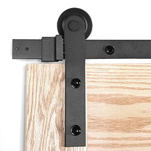 herrajes plateados para puertas de granero 2 tama/ños gu/ía de piso de puerta ajustable para puerta de garaje Accesorios para puertas corredizas