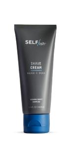 SELF/ish mens shaving cream lotion active acid vitamin boost shower prep smooth shave man skincare