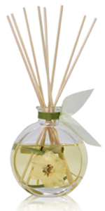 LOVSPA Traditional Glass Reed Diffuser Bottle with sticks. Air Freshener for Large Rooms 4.5 ounces
