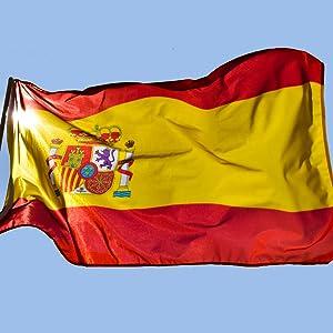 esvendio Bandera de España de Tela Fuerte (2pcs), Bandera Española ...