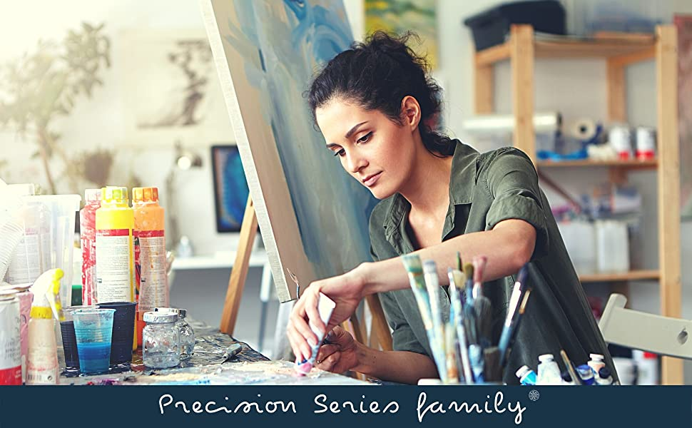 female painter working in the studio
