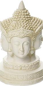 Buddha Head Bust Statue Tibet Tibetan Buddhism Shakyamuni Nepal Figurine Bodhi  Jizo