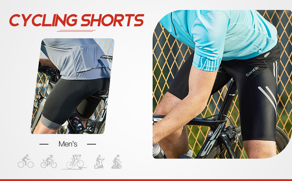 Pantalones cortos de ciclismo acolchados para hombre Fortitude Sports