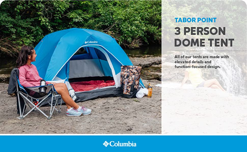 columbia tent 3 person dome camping