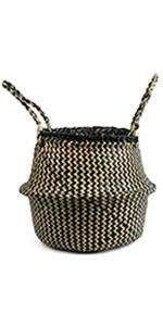 Black Strips Basket