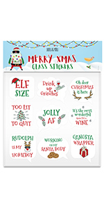 X-Mas Glass Markers