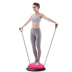 JanTeelGO Balance Board Krafttraining Balance Trainer Balance Ball Trainingshalbball mit Pumpe beidseitig nutzbar f/ür Yoga Fitness Stabilit/äts-Training