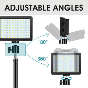 Studio LED light with adjustable angles