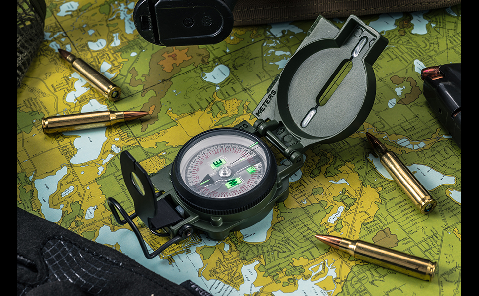 Tritium Lensatic military compass cammenga army hiking camping hunting