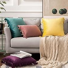 super soft durable boho tassels throw pillows cushion case