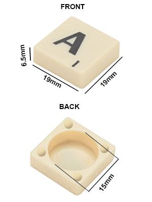 Trimming Shop Ivory Kunststoff Fliesen Schwarz Buchstaben /& Zahlen f/ür Kunst und Handwerk Scrapbooking Board Games und Schmuck 100 St/ück von