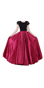 Full Circle Satin Skirt