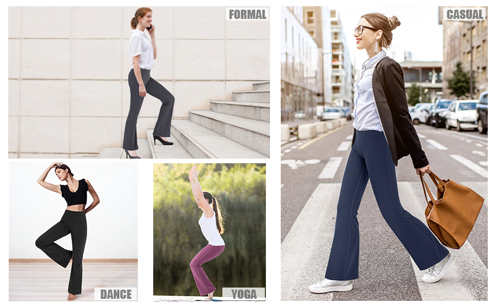 Damen Flare Yoga Hose