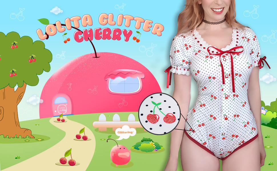 Lolita Onesie LittleForBig Cotton Romper Onesie Pajamas Bodysuit