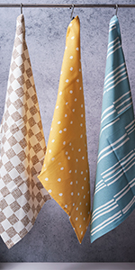 dish towels, tea towels, cotton dish towels, hanging kitchen towels, hand towels with hanging loops