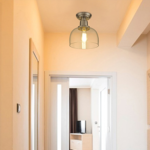 Semi Flush Mount Ceiling Light for Corridor
