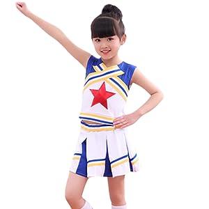 Socken LOLANTA Cheerleader-Kost/üm f/ür M/ädchen Cheerleader-Kost/üm f/ür Kinder mit Bommeln roter St
