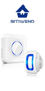 4 indicateurs LED de niveau sonore Sans fil Port/ée de 152 m Alarme dentr/ée de magasin 52 m/élodies D/étecteur de mouvement Biiwend 1 capteur PIR et 1 r/écepteur enfichable