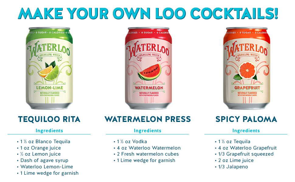 waterloo sparkling water grapefruit lemon lime watermelon recipe