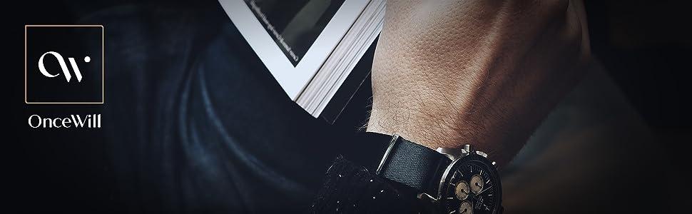 oncewill 20mm nato strap black seatbelt nylon seat belt soft