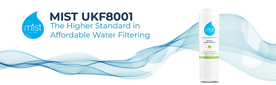 Mist Refrigerator Water Filter 4⸴ UKF8001⸴ 4396395⸴ EDR4RXD1⸴ Pur Filter 4⸴ Kenmore 46-9005 Graphic