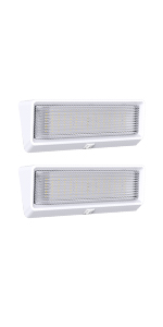 Leisure LED 2 Pack RV Exterior Porch Utility Light XL 12v 650 Lumen Lighting Fixture with Switch