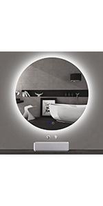 32 inch LED Round Backlit Mirror