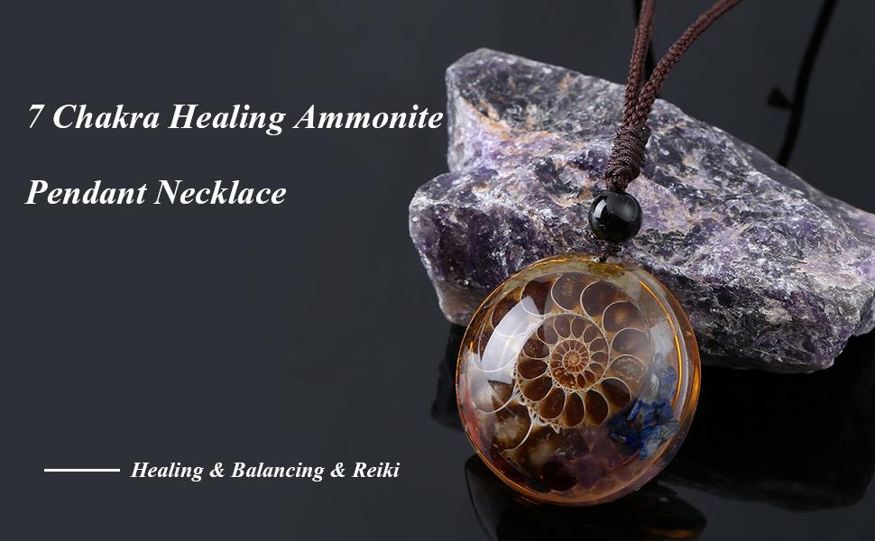 ammonite pendant necklace